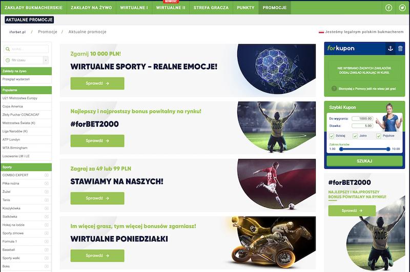 forbet bonus sporty wirtualne